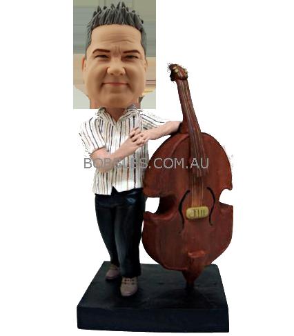 String Bass Player Custom Bobblehead