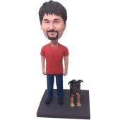 Man and Dog Bobblehead