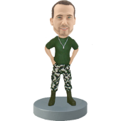 Custom Bobble Head Army Officer