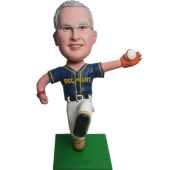 Baseball Man Custom Bobble