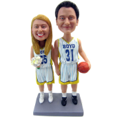 Basketball Theme Wedding Cake Topper