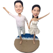 Beach Wedding Bobble Heads