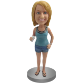 Beer Girl Custom Bobble Head