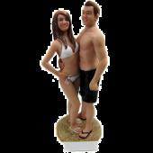 Bikini Bride and Swinning Suit Couple