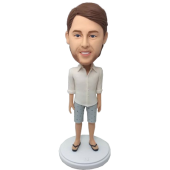 Boy in Shorts Custom Bobblehead