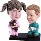 Brother and Sister Custom Bobbleheads