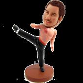 Bruce Lee Style Custom Bobblehead