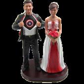 Captain America Theme Wedding Cake Topper