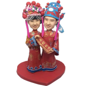 Chinese Couple Wedding Bobbles
