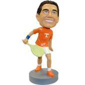 College Tennis Player Bobblehead