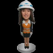 Construction Lady Bobblehead