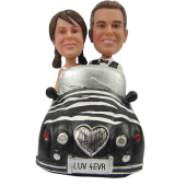 Couple in Car Cake Topper