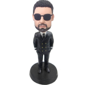 Custom Airline Captain Bobble