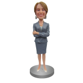 Custom Bobblehead Business Suit Lady