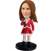 Custom bobblehead Christmas Girl
