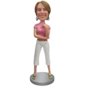 Custom Bobblehead in Crop Shirt and Capris