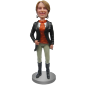 Custom Bobblehead In Jacket and Riding Boots