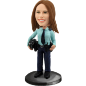 Custom Bobblehead Police Woman
