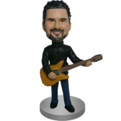 Custom Cool Guitarist Bobblehead