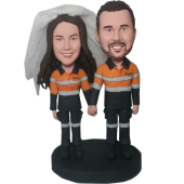 Custom Engineer Couple Bobbleheads