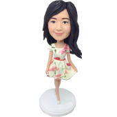 Custom Fashion Girl Bobble Head