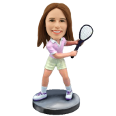 Custom female tennis bobble head