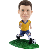 Custom Brazil football bobble head