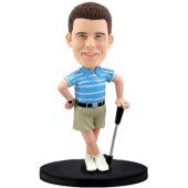 Custom golfing bobble head