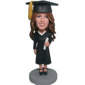 Custom Graduation Girl Bobblehead