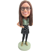 Custom Lovley Girl Bobble Head