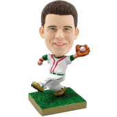 Customised bobblehead Baseball Pitcher