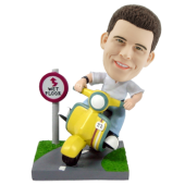 Customised Bobblehead City Scooter