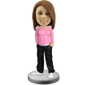 Customized bobblehead Hiphop Girl