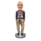 Customized Bobblehead In Disheveled Suit