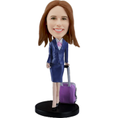 Customized bobblehead Stewardess
