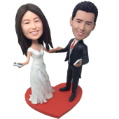 Dancing Couple Wedding Bobbleheads
