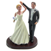 Dancing Couple Wedding Cake Topper