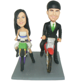 Dirtbike Couple Cake Topper