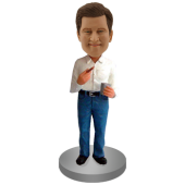 Personalised Bobble Head Man with Cigar