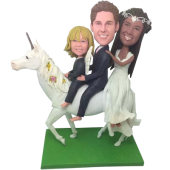 Family on Unicorn Bobbleheads