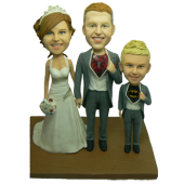 Superhero Family Wedding Cake Toppers