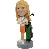 Female Golfer Custom Bobblehead