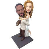 Football Fan Groom Wedding Bobbleheads
