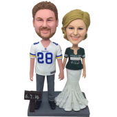 Football Fans Wedding Bobble Heads