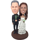 Geen Tie Wedding Cake Topper