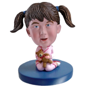Girl and Bear Custom Bobblehead