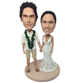 Hawaiian Wedding Custom Bobbleheads