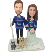 Hockey Couple Wedding Bobbles