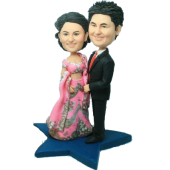 Indian Style Wedding Bobbleheads