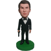 James Bond Style Bobblehead